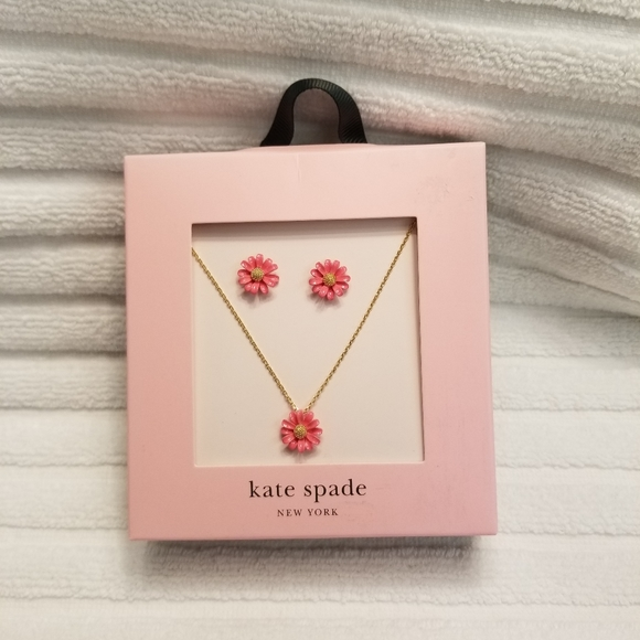 Kate Spade Into the Bloom Necklace & Earring Set
